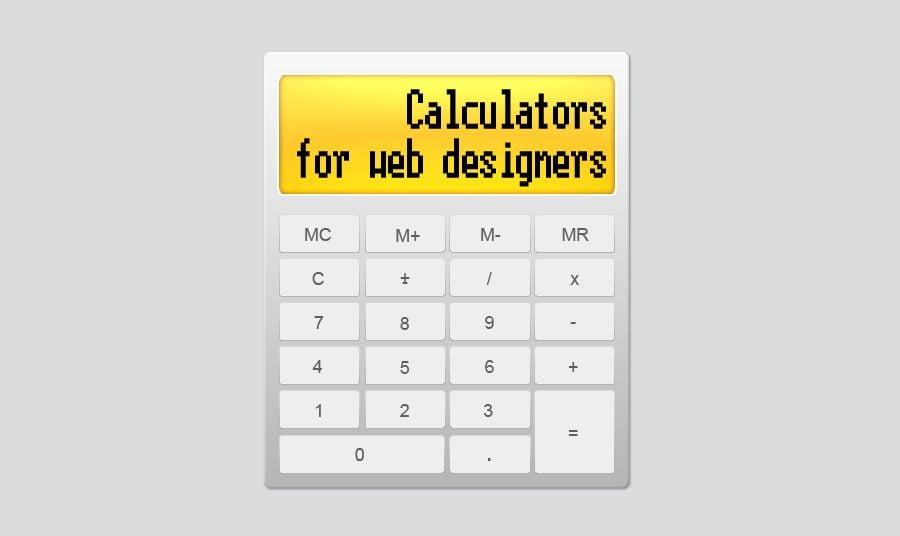 Web-Designer! Bringe Deine Taschenrechner