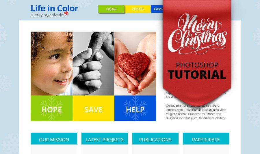 Passend zur Weihnachtszeit: Photoshop Design Tutorial