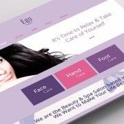 Begrüße die strahlende Orchidee – Die Farbe des Jahres im Kostenlosen HTML5 Theme für ein Spa Salon