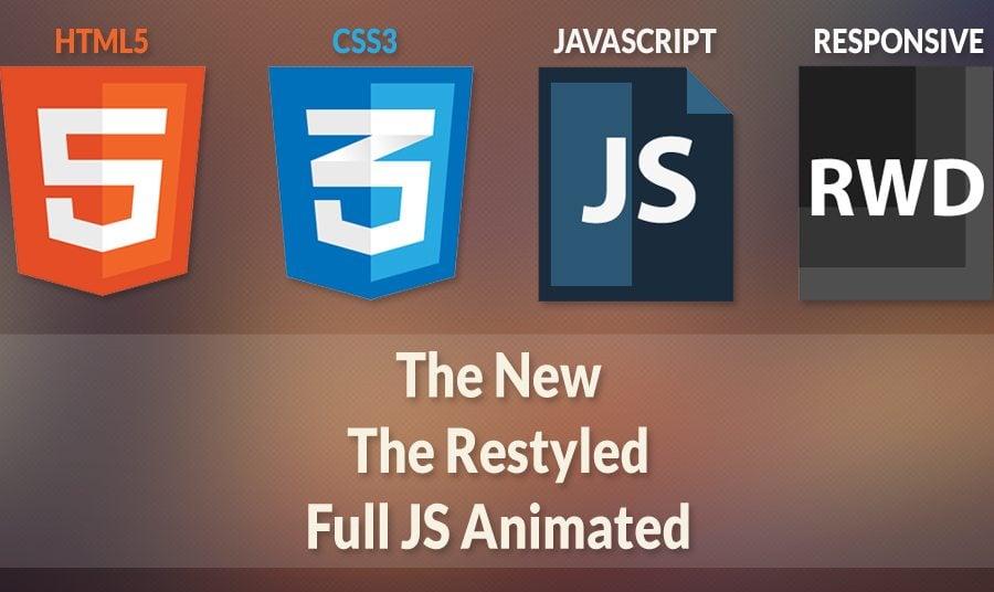 Aktualisierende Full JS Animated Templates. Neue Funktionen in erstklassigen Gallerien