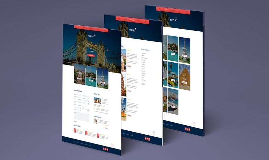 Es ist Zeit zum Polieren deiner Website. Gratis Responsive HTML5 Theme für Reisebüro