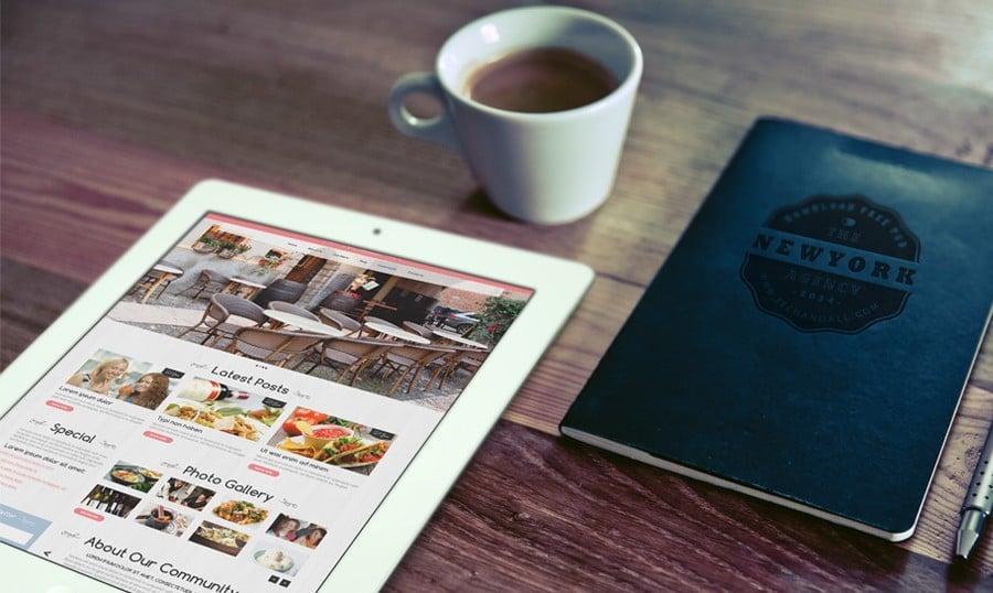 kostenloses restaurant wordpress theme