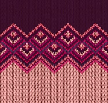 Realistic knitted fabric pattern vector material