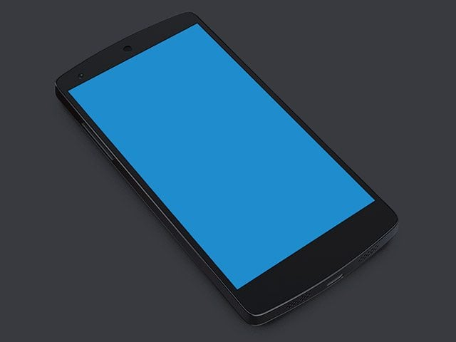 Nexus5 PSD Mockup