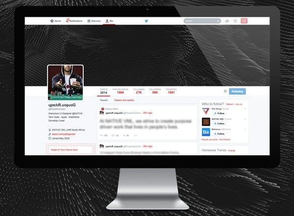 Twitter New Look PSD