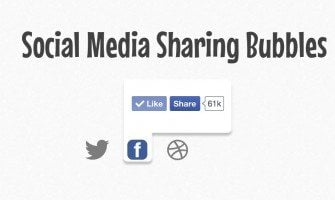 Versteckte Social-Media-Sharing Popup-Bubbles mit jQuery Tutorial
