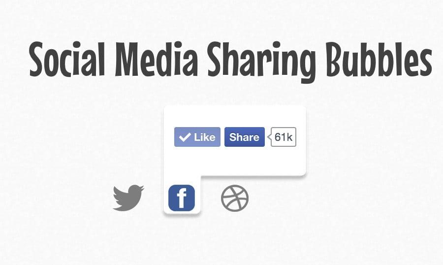 Versteckte Social-Media-Sharing Popup-Bubbles mit jQuery Tutorial