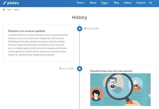 pintex-history-page