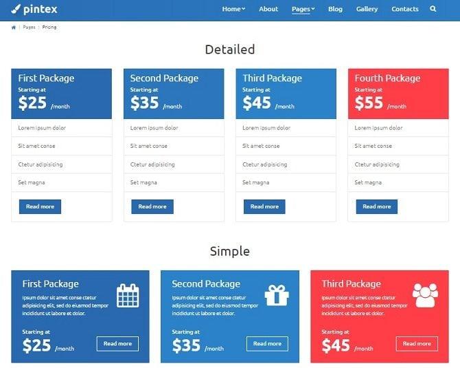 pintex-pricing-page