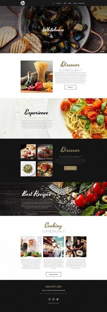 Responsive Moto CMS 3 Vorlage für ein European Restaurant