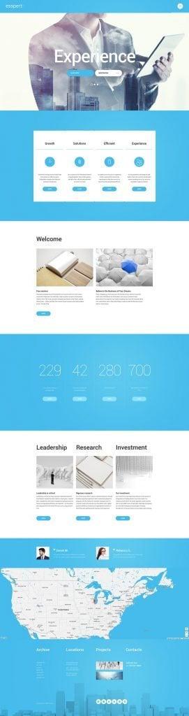 WordPress Theme für einen Business-Experte