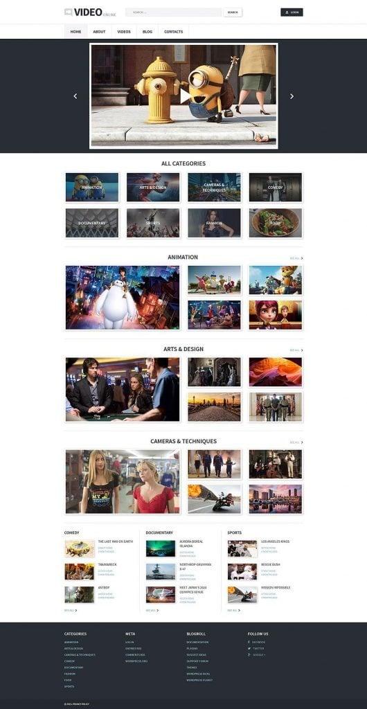 WordPress Theme für Videoaufnahmen