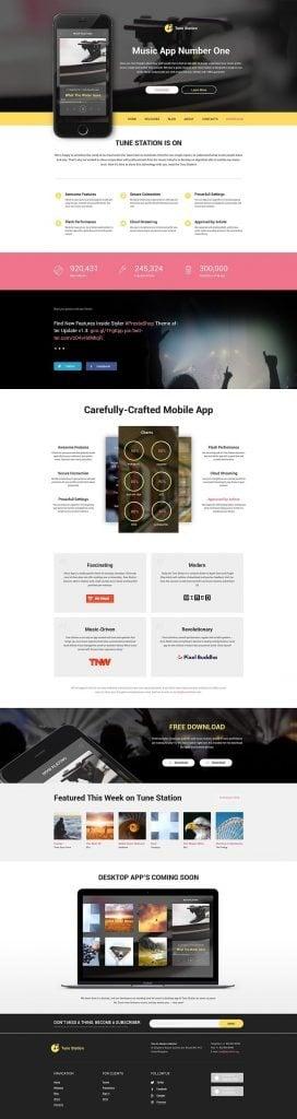 WordPress Theme für eine Softwarefirma