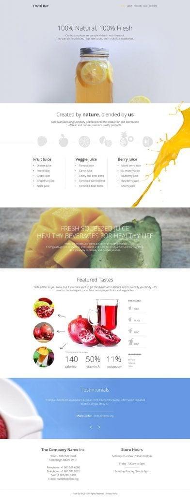 Responsives WordPress Theme für Cocktailbar