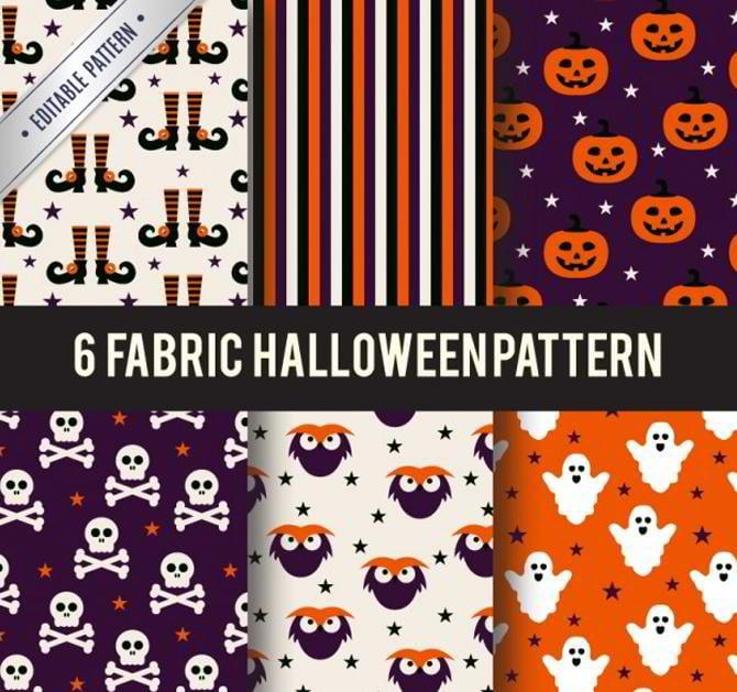 Stoff-Halloween-Muster
