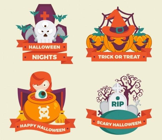 Nette Halloween-Abzeichen