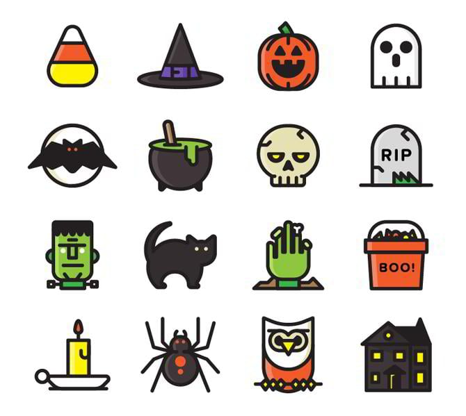 Halloween-Icon-Set