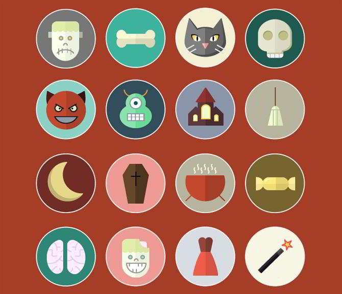 Vektor-Halloween-Icons