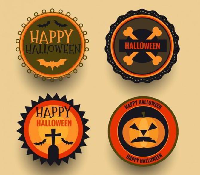 Halloween-Abzeichen-Sammlung