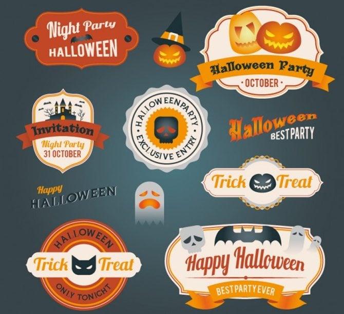 Halloween-Abzeichen-Pack