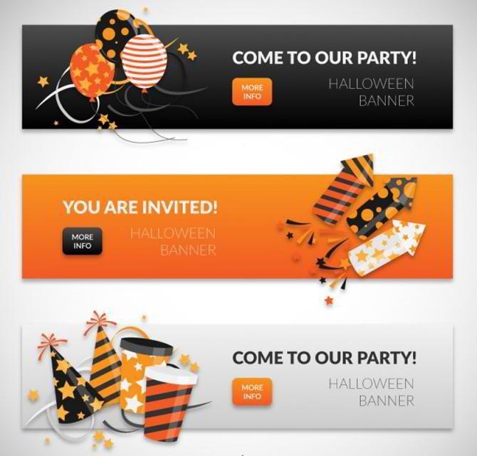 Halloween-Banner-Sammlung