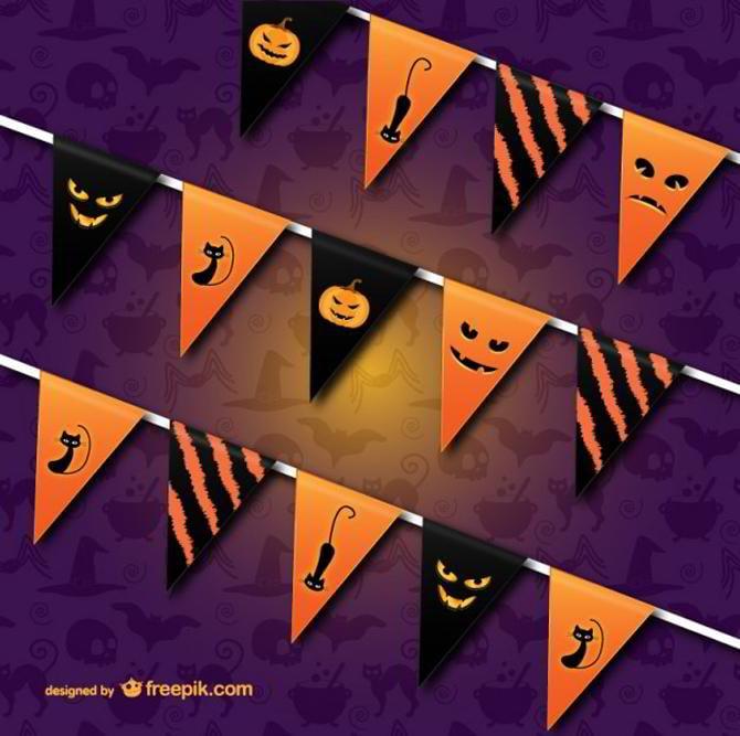 Halloween-Fahnentuch-Vektor