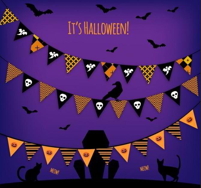 Halloween-Girlanden-Vektor
