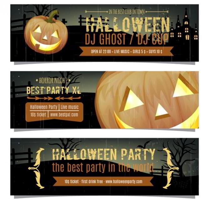 Halloween-Party-Banner-Pack