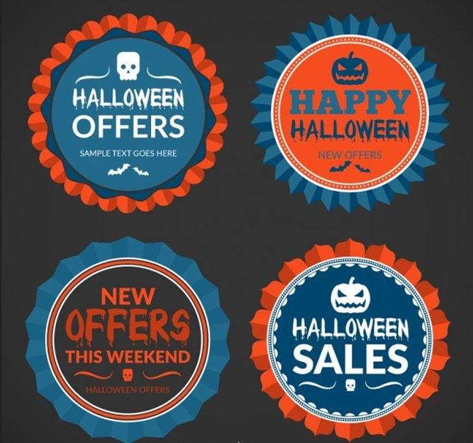 Halloween-Werbe-Abzeichen