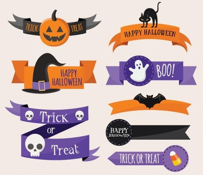Halloween-Bänder