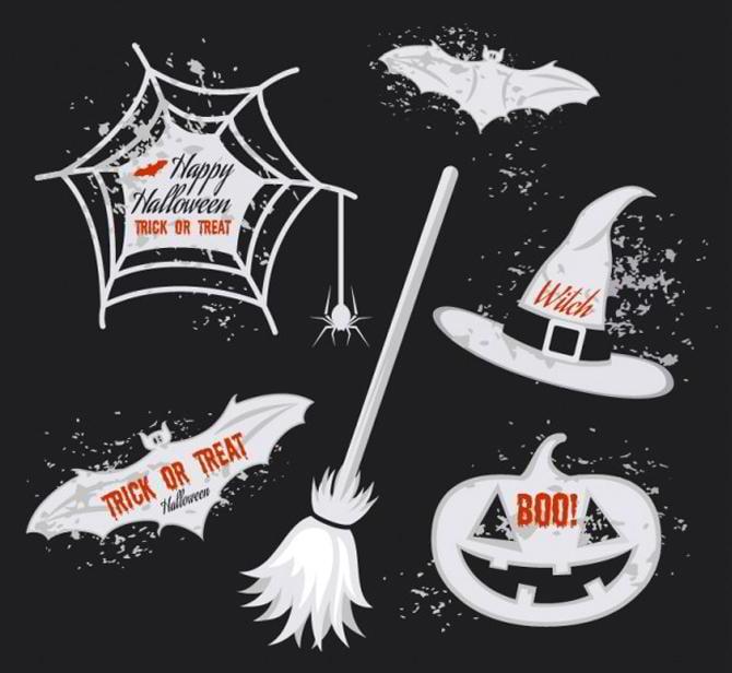 Halloween-Aufkleber-Pack