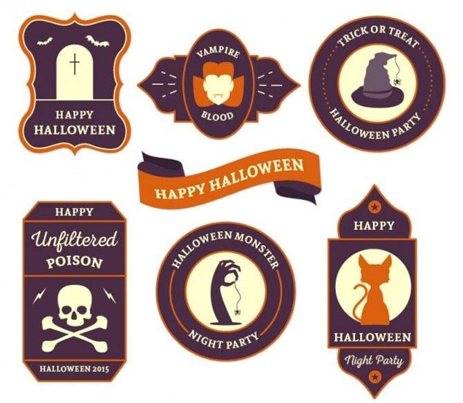 Glückliches Halloween Etiketten