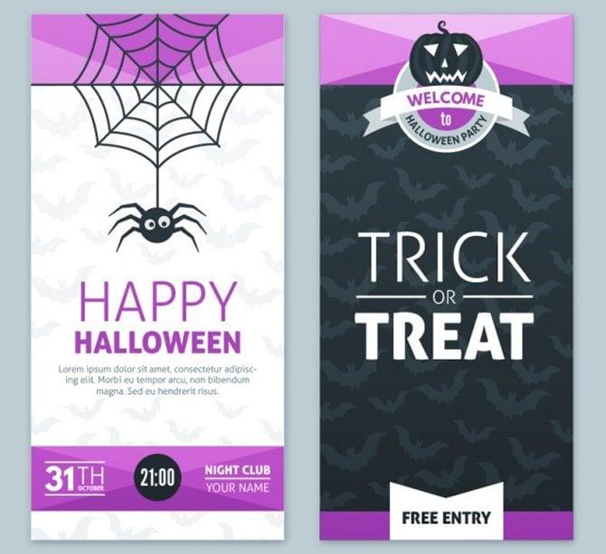 Lila Halloween Banner