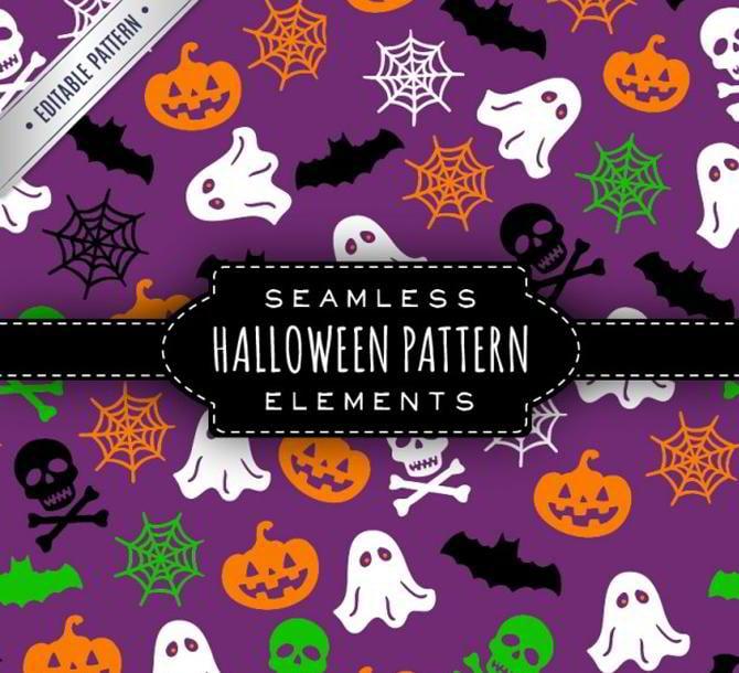 Nahtlose Halloween Muster