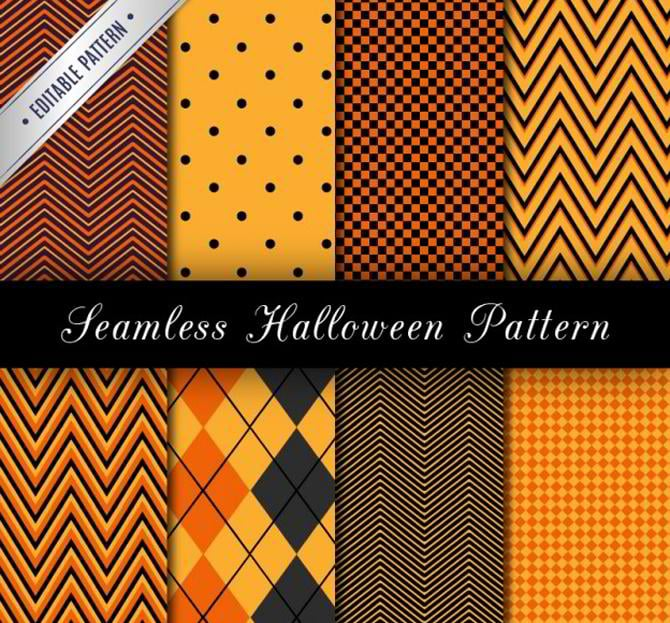 Nahtlose Halloween-Muster