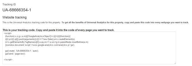UA Tracking ID