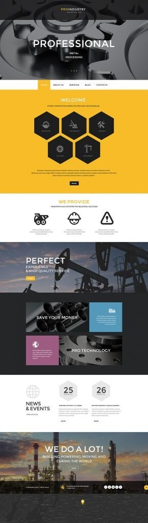 PRO Industrie PSD Template
