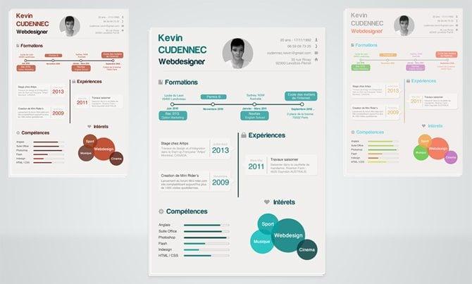 Diese Lebenslauf-Vorlage wurde in Infografik-Stil erstellt und ist in ...