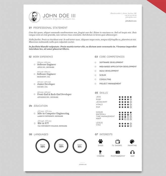 AI Resume Template Version III