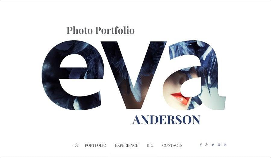 Persönliche Foto-Portfolio Website