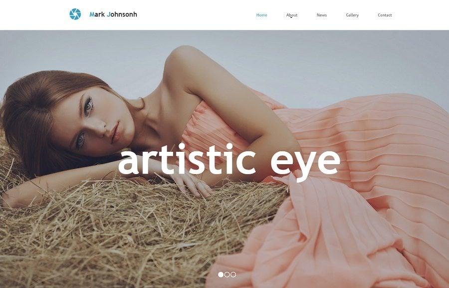 Responsive Fotografie Website mit Parallax