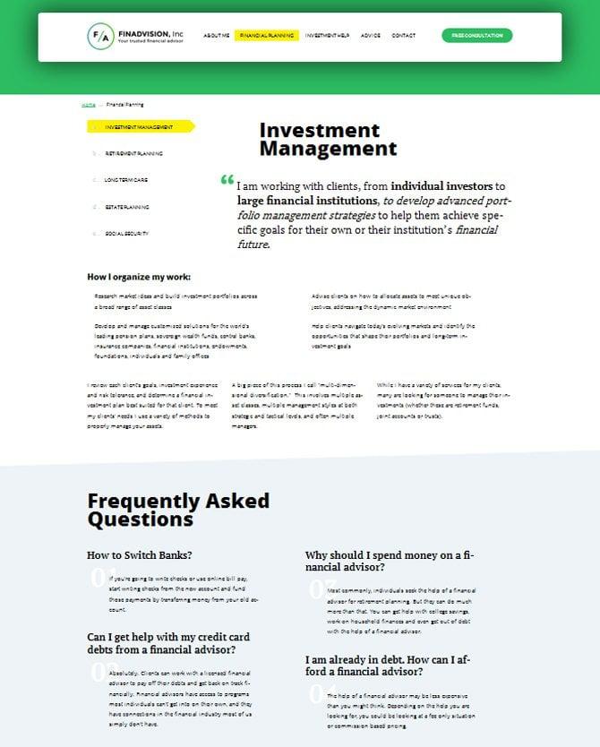 Finanzplanung Seite