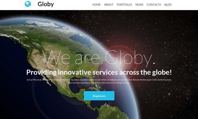 Responsive Moto CMS 3 Website für Business