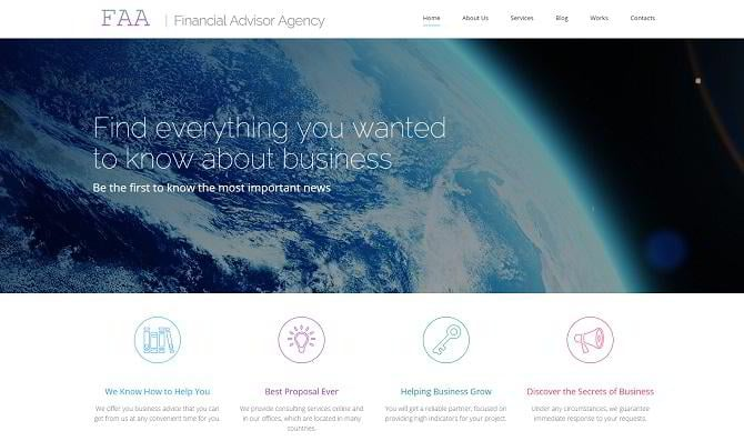 Responsives Moto CMS 3 Template für Finanzberater