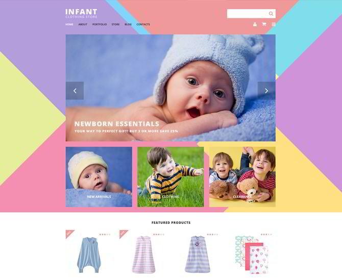 Template für Kinderbekleidungsgeschäft