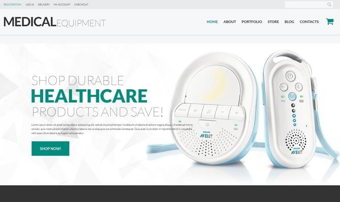 Template für medizinische Ausrüstung