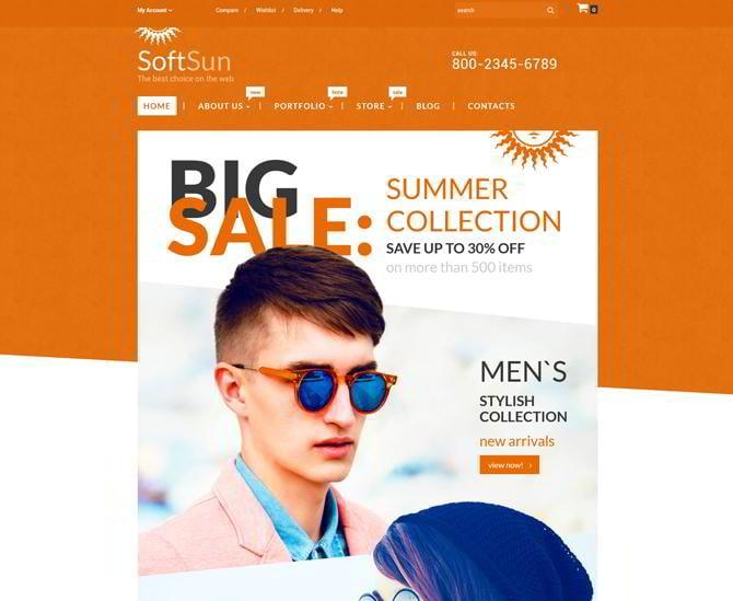 Template für Sonnenbrillen-Shop