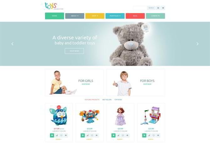 Template für Spielzeuggeschäft