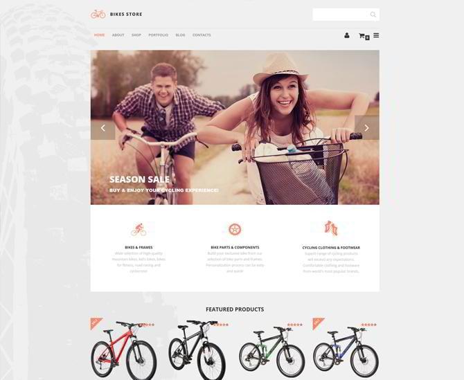 Template für Fahrradgeschäft