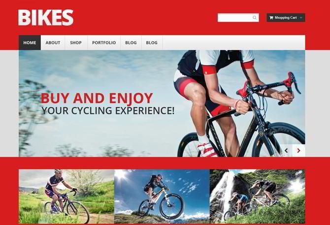 Shop für Fahrräder